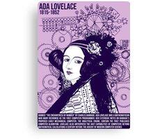 Illustrating Great Minds - Ada Lovelace Canvas Print