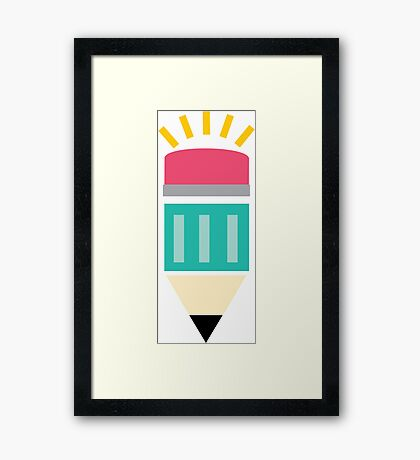 CREATIVE PENCIL Framed Print