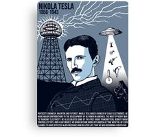 Illustrating Great Minds - Nikola Tesla Canvas Print