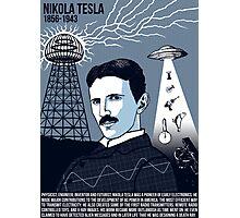 Illustrating Great Minds - Nikola Tesla Photographic Print