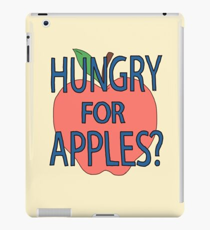 Hungry for apples? iPad Case/Skin