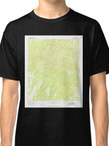 USGS TOPO Map Arizona AZ Willow Mtn 314130 1967 24000 Classic T-Shirt