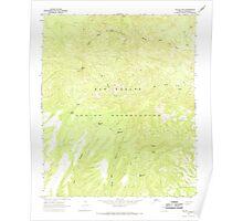 USGS TOPO Map Arizona AZ Willow Mtn 314130 1967 24000 Poster