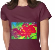 Bright amaryllis cluster Womens Fitted T-Shirt