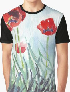 Poppies mean Spring! Graphic T-Shirt