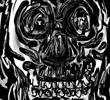 Skull drawing -(151215)- iPad/Zen brush App. by paulramnora