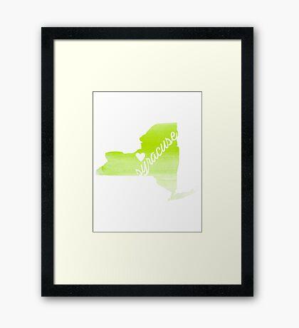 Syracuse Framed Print