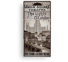 Performing Arts Posters The lights o London every evening and Saturday matinee 0978 Canvas Print