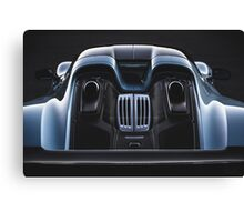 Liquid Metal - Porsche 918. Canvas Print