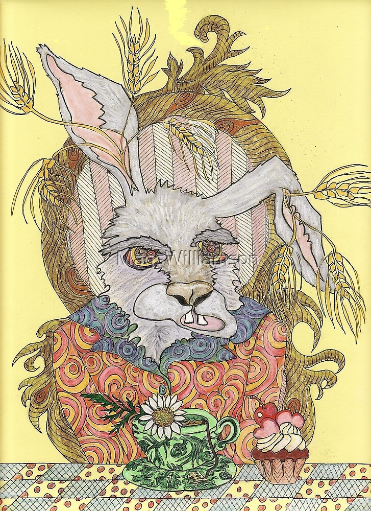 Truly Deeply Mad - The March Hare (Coloured Version) by MagsWilliamson