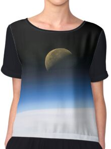 Moonrise from orbit Chiffon Top