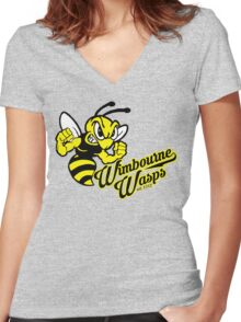 Wimbourne Wasps Women's Fitted V-Neck T-Shirt
