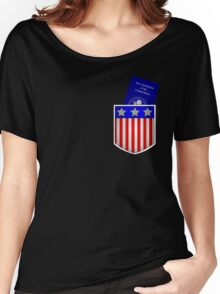 Pocket U.S. Constitution Women's Relaxed Fit T-Shirt