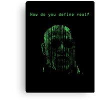 The Matrix Morpheus Code Canvas Print