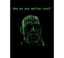 The Matrix Morpheus Code Photographic Print