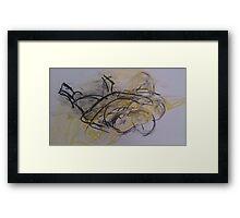 life drawing 03.07.14 Framed Print