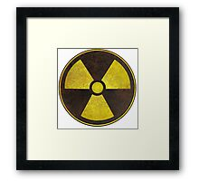 Radioactive Fallout Symbol - Scratched  Framed Print
