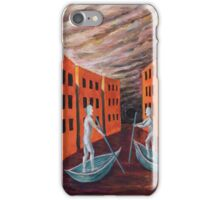 Oil Painting - Boat People III iPhone Case/Skin