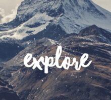 Explore mountains Sticker