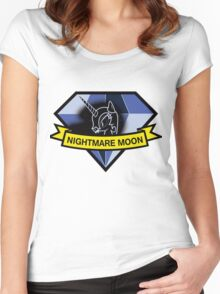 diamond dogs nightmare moon Women's Fitted Scoop T-Shirt