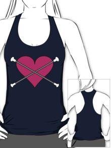 Heart Baton Twirling 2 Design  T-Shirt