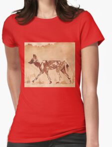 Painted Dog - African Wild Dog Womens Fitted T-Shirt