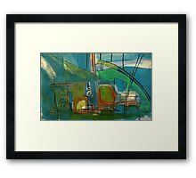 bright port Framed Print