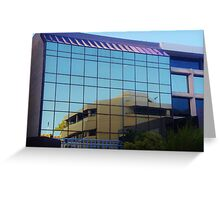 Reflections In A Perth Building Greeting Card
