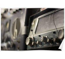 Antique Radios Poster