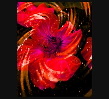 Blazing Red Flower. Womens Fitted T-Shirt