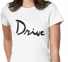 Drive Inspired- Black Logo Womens Fitted T-Shirt