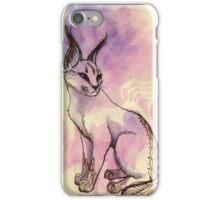 Caracal Cat Watercolor iPhone Case/Skin