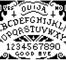 ouija pixel board by dragon-s