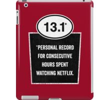 13.1 - Binge Watching Record iPad Case/Skin