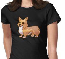 Tucker the Corgi Womens Fitted T-Shirt