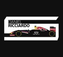 2014 Formula 1 RedBull Daniel Ricciardo Race Car Kids Clothes