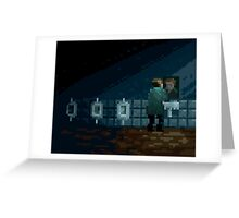 James Sunderland Pixel Art Tribute Greeting Card