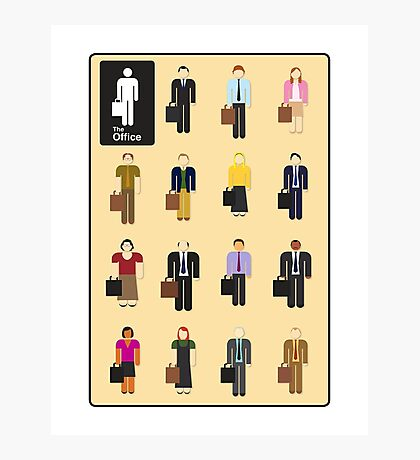 The Office Characters Photographic Print