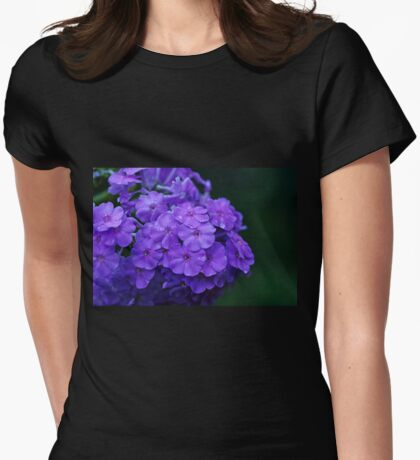 Dew Kissed Summer Phlox Womens Fitted T-Shirt