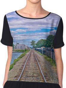 Train Tracks Chiffon Top
