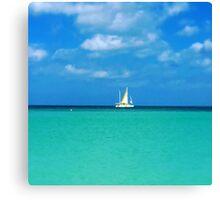 Sail Away Aruba Canvas Print