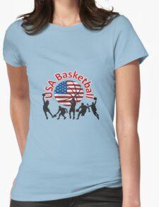 USA Basketball Womens Fitted T-Shirt