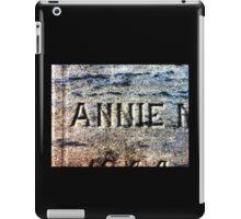 The Headstone of Annie iPad Case/Skin