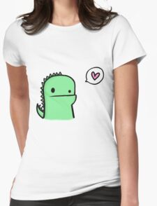 EDR 414 Dino Says its Called Love Womens Fitted T-Shirt