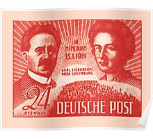 Karl Liebknecht and Rosa Luxemburg Poster