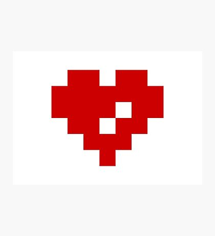Pixel Heart 8 Bit Love Photographic Print