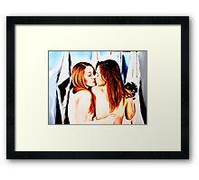 Red, black, blue, this is lesbians girlie love Framed Print