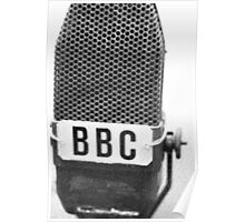 Old BBC Microphone Poster