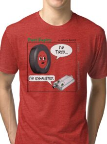Cartoon : Tired and Exhausted Tri-blend T-Shirt