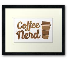 Coffee nerd Framed Print